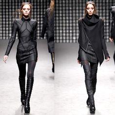 fashion designer #futuristic #futuristic fashion #model #dark