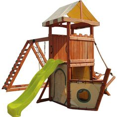 Fun often ends at the end of playtime but memories of adventure last forever. With its thicker build 6 feet rock wall 8 feet slide belt swing and glider and an epic play den sandbox The Pegasus Wood Playset will create memories that will last a lifetime. The playset Includes a large climbing ramp with rope handrail 6 feet high cargo net and a 4 feet high play deck. Feed your little ones appetite for adventure with The Pegasus!