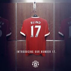Daley Blind will wear no.17 for the Reds.♥