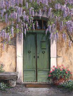Wisteria Over The Door