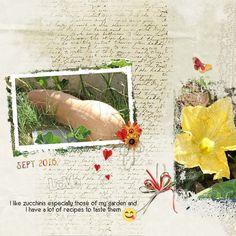 Zucchinis - Weekend Wildcard Challenge - Gallery - Scrap Girls Digital Scrapbooking Forum