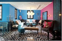 Exclusive-Lounge interior-design-with-retro-style