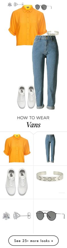 """Sans titre #325"" by adeline-m on Polyvore featuring Topshop, Vans and Ray-Ban"