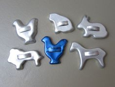 Vintage Minature aluminum cookie cutters  by JanesVintageToo