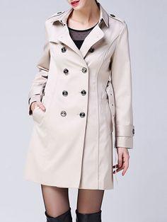 Paneled Viscose Trench coat