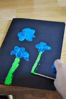 Fingerprint Flowers (Spring theme or Mother's Day idea?)