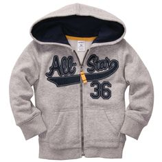 Fleece Athletic Hoodie | Baby Boy Jackets & Outerwear
