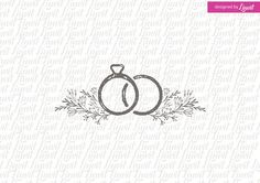 Ring Wedding Logo Templates This is a digital print ready monogram that can be used as a wedding monogram for your wedding stati by Linvit Wedding Logo Design, Wedding Logos, Monogram Wedding, Wedding Stationary, Wedding Designs, Wedding Cards, Wedding Rings, Wedding Icon, Wedding App