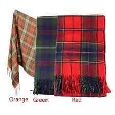 Women Winter Infinity Blanket Oversized Shawl Plaid Check Tartan Scarf Wrap Wool
