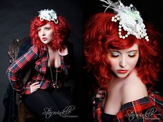 tartan and red red hair