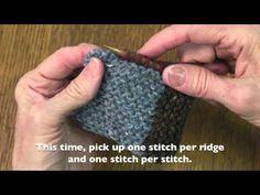 log cabin knitting - YouTube