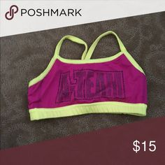 spirit of Texas a-team sports bra spirit of Texas a-team pink and yellow bedazzled sports bra Other