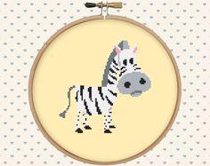 Cute zebra cross stitch pattern pdf - instant download - cute animal pattern - easy cross stitch pattern par GentleFeather sur Etsy https://www.etsy.com/fr/listing/274988230/cute-zebra-cross-stitch-pattern-pdf