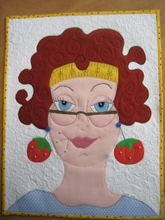 "in the Ladies Series ""Julie"" by mamacjt Hand Applique, Hand Embroidery Patterns, Applique Patterns, Applique Quilts, Embroidery Applique, Quilt Patterns, Quilting Projects, Sewing Projects, Cute Quilts"