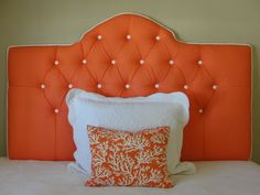 Tufted headboard - coral