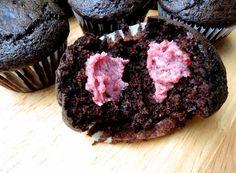 Double Chocolate Muffins with Raspberry Butter