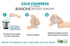 cold compress for bunions