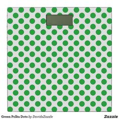 Green Polka Dots Bathroom Scale  Available on many products! Hit the 'available on' tab near the product description to see them all! Thanks for looking!  @zazzle #art #polka #dots #shop #home #decor #bathroom #bedroom #bath #bed #duvet #cover #shower #curtain #pillow #case #apartment #decorate #accessory #accessories #fashion #style #women #men #shopping #buy #sale #gift #idea #fun #sweet #cool #neat #modern #chic #laptop #sleeve #black #orange #blue #yellow #green  #white