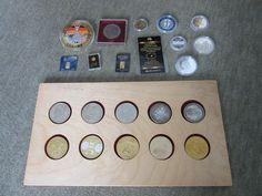 """kl. Sammlung an Münzen bzw. Medaillen, mit kleinen Barren aus Gold & """"Goldmark"""" Gold, Ebay, Germany, Yellow"""