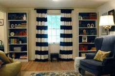 These drapes are exactly what I want for my familyroom except instead of blue Green! Citrus Green to be exact!