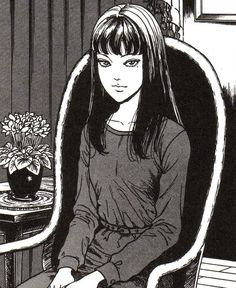 Junji Ito is a horror (gore and body horror along with supernatural horror) manga artist. Manga Anime, Anime Art, Japanese Horror, Japanese Art, Arte Horror, Horror Art, Ero Guro, Arte Indie, Junji Ito