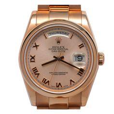 Rolex Pink Gold Day Date President circa 2004 B & P  #41804