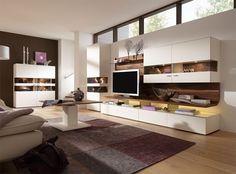 Moderne-Wohnwände im Wohnzimmer-TV Board aus hochwertigen MDF-Platten