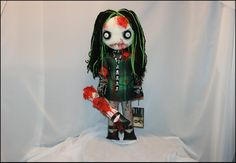 Etsy :: Your place to buy and sell all things handmade Nightmare Before Christmas Dolls, Zombie Dolls, Black Spider, Raggedy Ann And Andy, Gothic Horror, Creepy Art, Doll Stands, Hand Stitching, Art Dolls