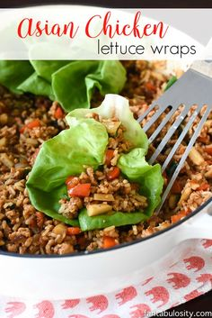 My gosh these are GOOD!! And so healthy with the lettuce wraps! Asian chicken lettuce wraps - quick weeknight meal!