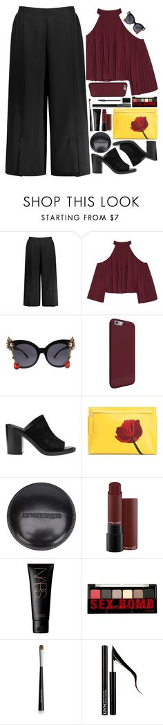 """60-Second Style: Insta-Ready"" by askhaerunisa ❤ liked on Polyvore featuring W118 by Walter Baker, Ann Demeulemeester, Loewe, MAC Cosmetics, NARS Cosmetics, NYX, Forever 21, Marc Jacobs, 60secondstyle and PVShareYourStyle"