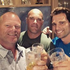 Great Canadian Trio: Mike Holmes ·     Stopped by my buddy Bryan's house to say hello to a few friends today. Bryan Baeumler Scott McGillivray