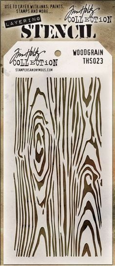 Tim Holtz Stencil - Woodgrain These stencils are designed to add texture and imagery to your creativity. Use with embossing paste and various types of paints and inks. The simple tag shape makes it ea