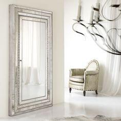 Hooker Furniture Melange Glamour Floor Mirror w/ Jewelry Armoire Storage
