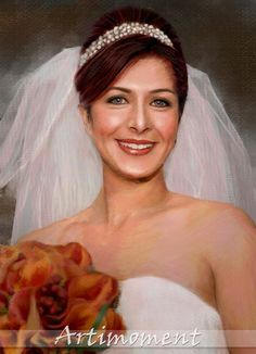 Custom Portrait - Custom Wedding Painting, Engagement Painting, Anniversary Painting, Custom Digital Painting, From your photo -  For more, please visit www.artimoment.com