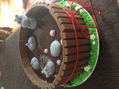 My take on pig in mud cake. Hippos in mud.