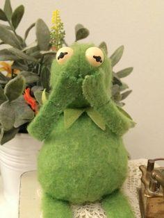 Blushing kermit