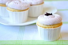 Delicious recipe for honey lemon and lavender cupcakes.  Very elegant flavors, perfect for bridal shower, or afternoon tea.