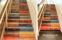 """Great usage of stairs for outdoors advertising. In this case, the ad calls for """"packing your bags: it's time to thaw."""""""