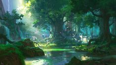 ideas for digital art fantasy landscape forests scenery Anime Art Fantasy, Digital Art Fantasy, Fantasy Kunst, Fantasy Artwork, Anime Artwork, Scenery Background, Fantasy Background, Forest Background, Background Images