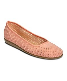 Look what I found on #zulily! Coral Solsa Dance Flat #zulilyfinds