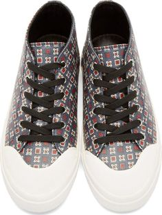 Dolce & Gabbana Blue Graphic Printed Howen Sneakers
