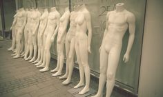 Mannequins on parade.
