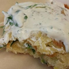 Lauch-Spinat-Frittata mit Kräuterquark