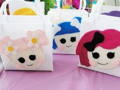 LaLaLoopsy Birthday goodie bags...video is dumb, but the bags are cute
