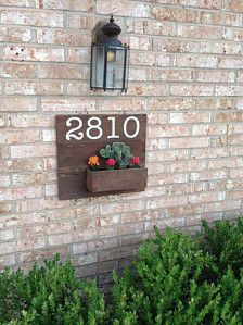 Address Planter by SimplySuell on Etsy House Address Numbers, House Numbers, Home And Living, Home Projects, Beautiful Homes, Home Improvement, Planters, Home And Garden, New Homes