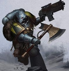 Discover recipes, home ideas, style inspiration and other ideas to try. Warhammer 40k Space Wolves, Warhammer 40k Art, Stranger Of Sword City, Wolf Time, Dc Comics, Great Warriors, Game Workshop, Space Marine, Joker