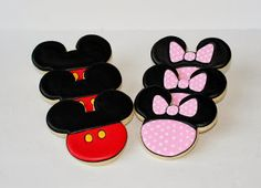 Mickey Mouse Clubhouse Cookies by Sweet Melissa's Cookies: Mickey & Minnie Mouse