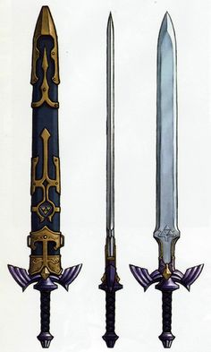 The Legend of Zelda: Twilight Princess. Link's Master Sword