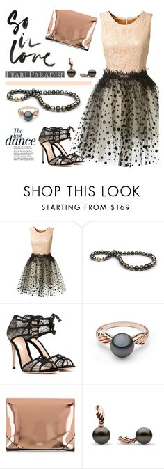"""""""The last dance"""" by ansev ❤ liked on Polyvore featuring Loyd/Ford, Anja, Gianvito Rossi, MM6 Maison Margiela and pearlparadise"""
