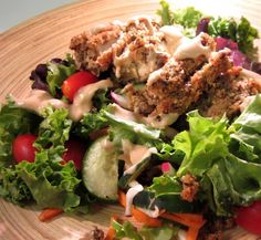 Tofu Caesar Salad with Tahini Tango Dressing « Real Food Works #realfood #plantbased #plantstrong